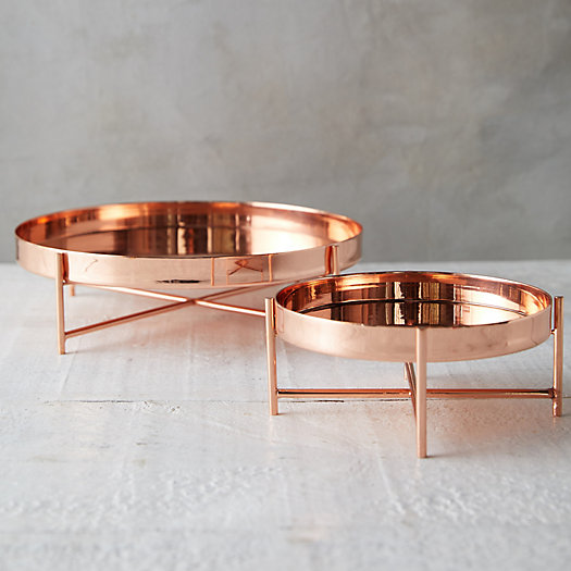 View larger image of Copper Serving Tray + Stand