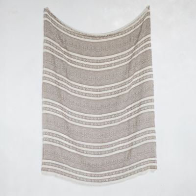Heathered Graphic Throw