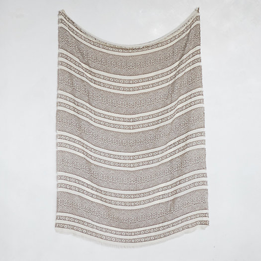 View larger image of Heathered Graphic Throw