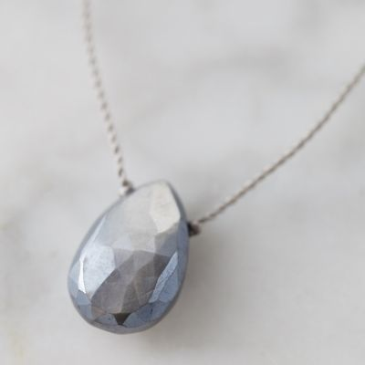Moonstone Droplet Necklace