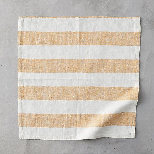 View larger image of Lithuanian Linen Napkin, Block Stripe