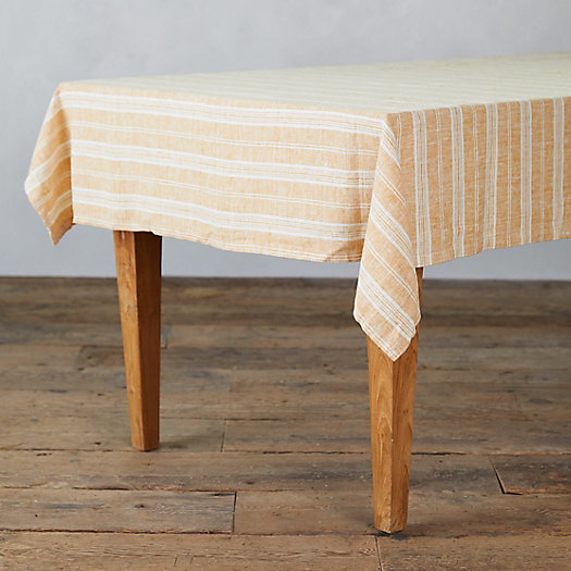 View larger image of Lithuanian Linen Tablecloth, Gold Multi Stripe