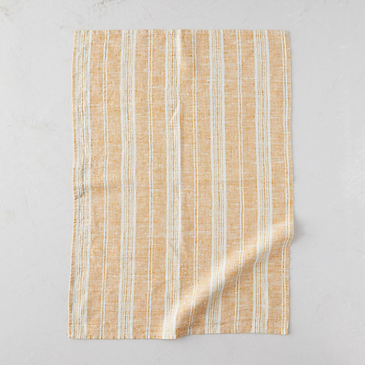 View larger image of Lithuanian Tea Towel, Gold Multi Stripe