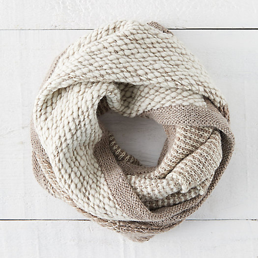 View larger image of Colorblock Alpaca Infinity Scarf
