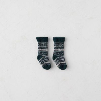 Baby Poinsettia Socks