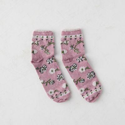 Womens' Floral Anklet Socks