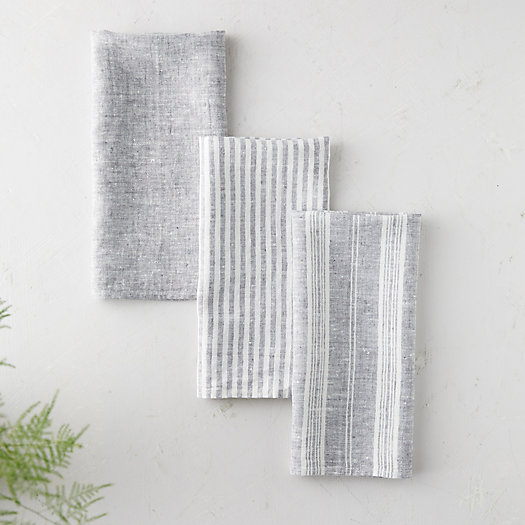 View larger image of Lithuanian Linen Striped Tea Towel, Set of 3