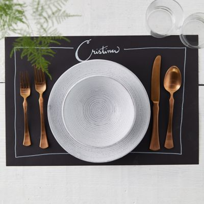 Faux Chalkboard Paper Placemats, Set of 30