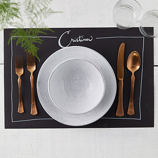 View larger image of Faux Chalkboard Paper Placemats, Set of 24