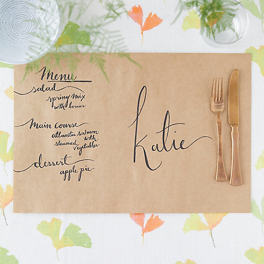 View larger image of Kraft Paper Placemats, Set of 30