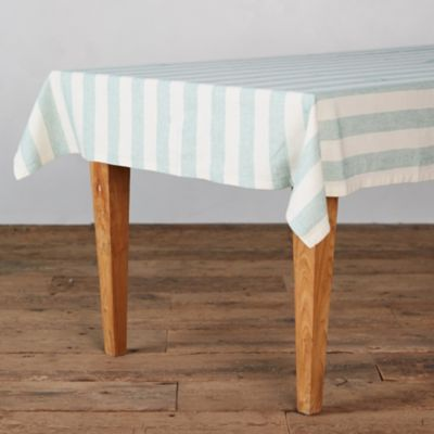 Lithuanian Linen Tablecloth, Block Stripe