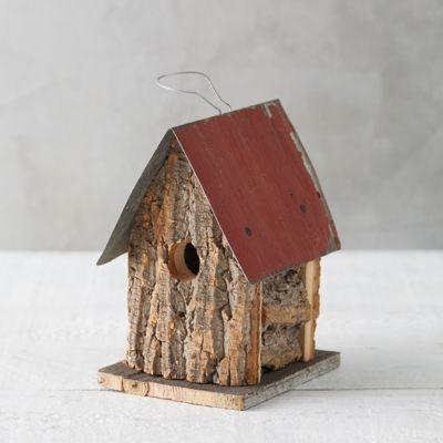 Bark Cabin Birdhouse