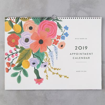 Flowers 2019 Appointment Calendar
