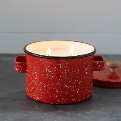 Hot Cider Candle, Enamel Pot