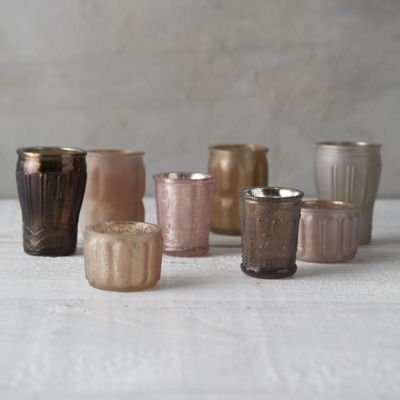 Mercury Votive Holders, Set of 8