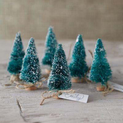 Brush Tree Place Holders, Set of 6