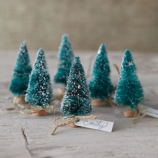 View larger image of Brush Tree Place Holders, Set of 6