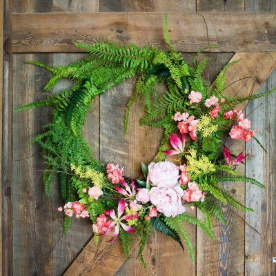 Crafting a Spring Wreath