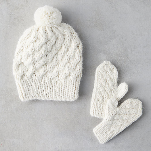 View larger image of Baby Hat + Mitten Set