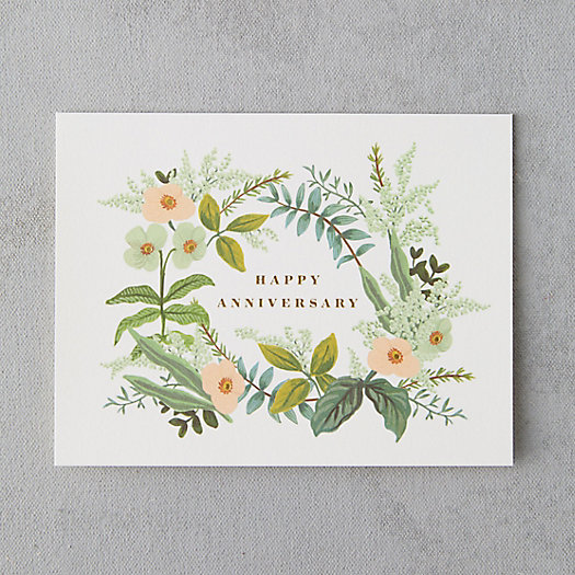 View larger image of Floral Wreath Anniversary Card