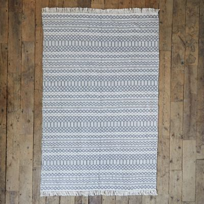 Fringed Geometric Outdoor Rug