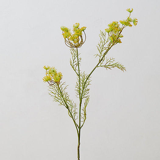 View larger image of Faux Queen Anne's Lace Spray, Yellow
