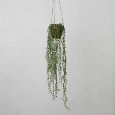 Faux Potted Hanging Plant