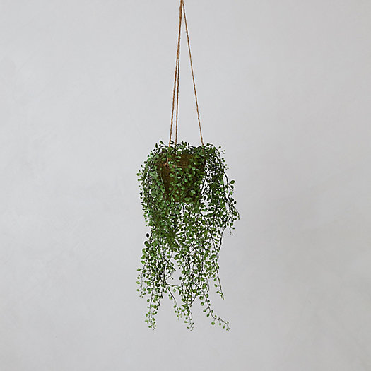 View larger image of Faux Potted Hanging Plant
