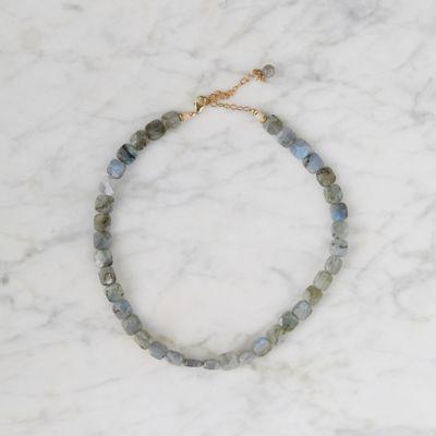 Cushion Cut Labradorite Choker Necklace