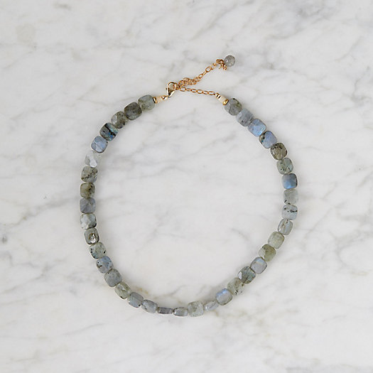View larger image of Cushion Cut Labradorite Choker Necklace