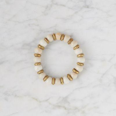 Riverstone + Brass Bracelet