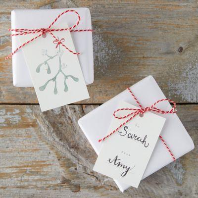 Scandinavian Seasons Greetings Gift Tags, Set of 16