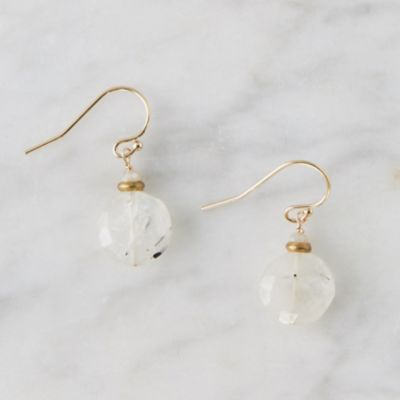 Tourmalated Quartz Disc Earrings