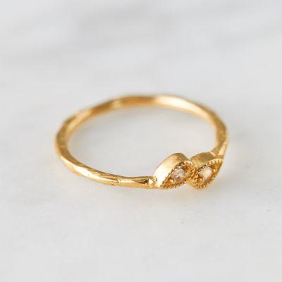 White Topaz Pear Ring
