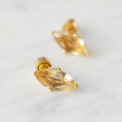 Lotus Stone Stud Earrings