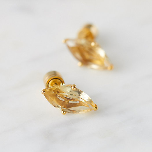 View larger image of Lotus Stone Stud Earrings