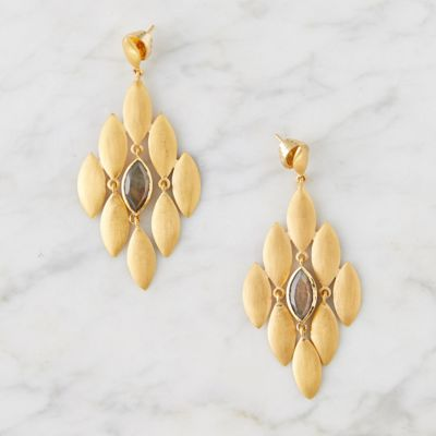 Labradorite Lotus Earrings