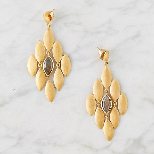 View larger image of Labradorite Lotus Earrings