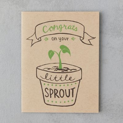 Congrats On Your Little Sprout Card