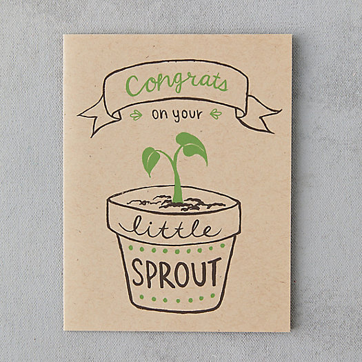 View larger image of Congrats On Your Little Sprout Card