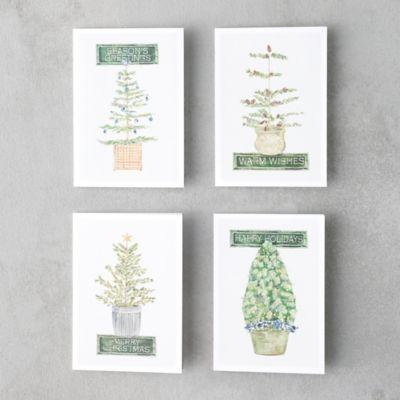 Season's Greetings Tree Cards, Set of 8