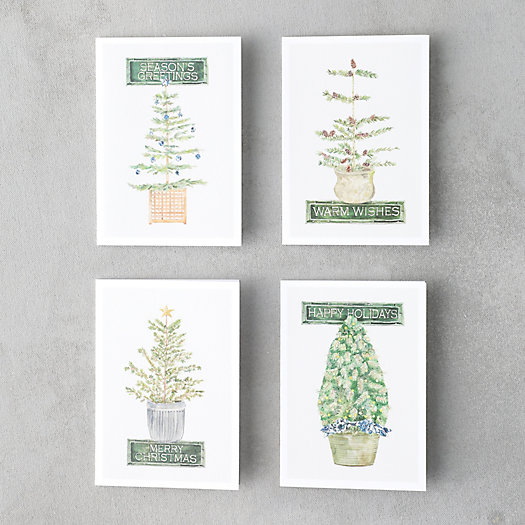 View larger image of Season's Greetings Tree Cards, Set of 8
