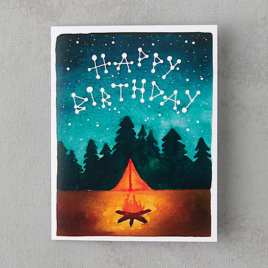 View larger image of Fireside Birthday Card