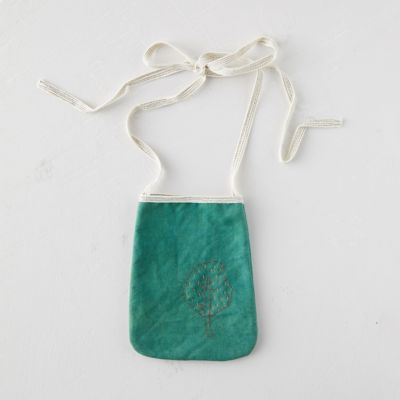 Woodland Embroidered Pouch