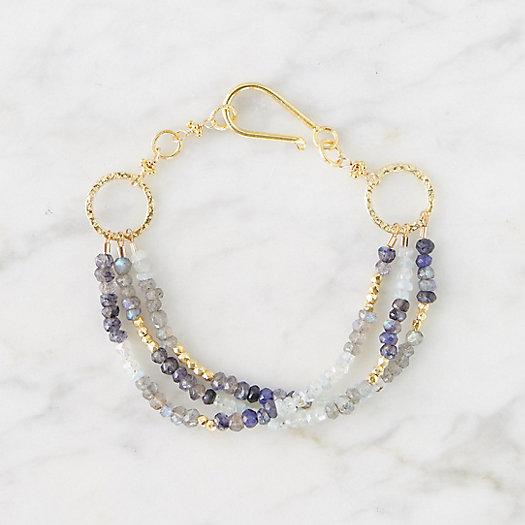 View larger image of Labradorite + Aquamarine Bracelet