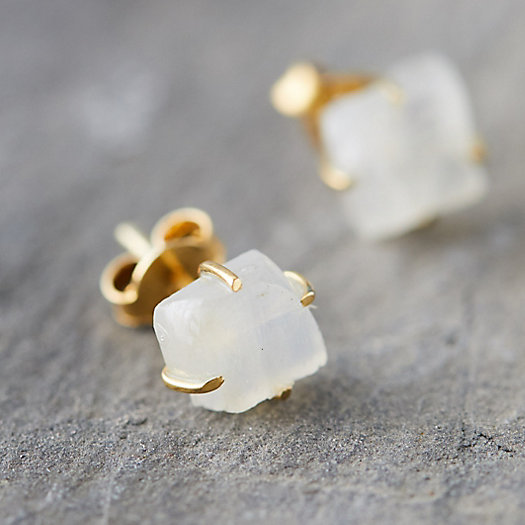 View larger image of Moonstone Stud Earrings
