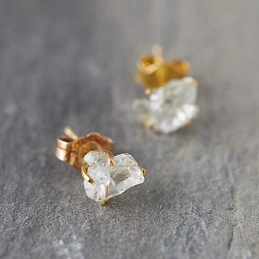 View larger image of Herkimer Diamond Stud Earrings