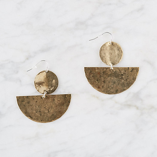 View larger image of Half Moon Disc Earrings