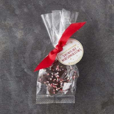 Peppermint Chocolate Snowflake Marshmallows