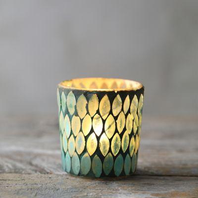 Green Scales Tea Light Holder
